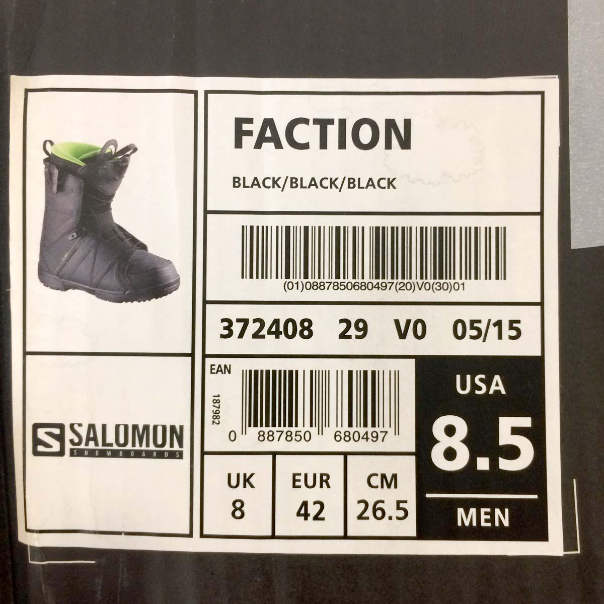 4b1ca513 Salomon Faction Snowboard Boots - UK 8 - Ex Demo Never Worn - 10/10
